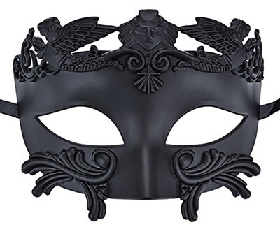 Coxeer Men's Masquerade Mask Greek Roman Party