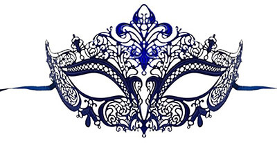 Luxury Mask Metal Venetian Women's Laser Cut Masquerade Mask