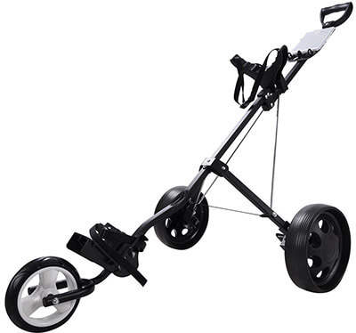 AW Foldable Golf Cart Trolley 3-Wheel Push Pull