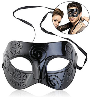 WINOMO Black Mask Venetian Mask Men