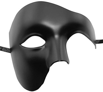Coxeer Musical Checked Party Roman Greek Men Vintage Masquerade Mask