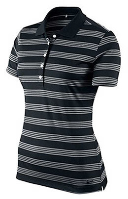 Nike Women's Dri-Fit Tech Golf Polo Shirt, Striped