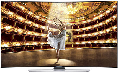 Samsung UN55HU9000 4K Ultra HD 13D Smart LED TV, 55-Inch