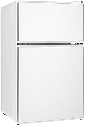 Midea WHD-113FW1 Refrigerator and Freezer with Double Reversible Door