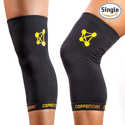 Copper Joint Single Knee Compression Sleeve