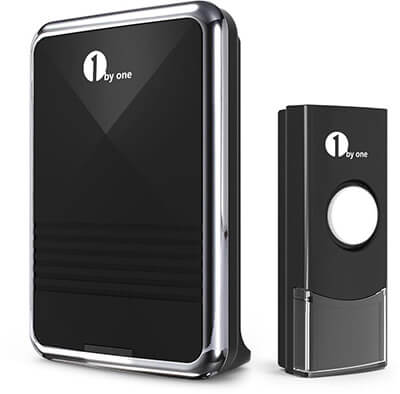 1byone Easy Chime Wireless Doorbell Kit, 36 Melodies