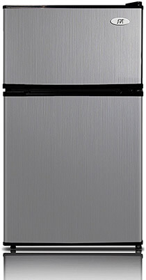 SPT RF-354SS Double Door Refrigerator, 3.5 cu. ft. Stainless Steel