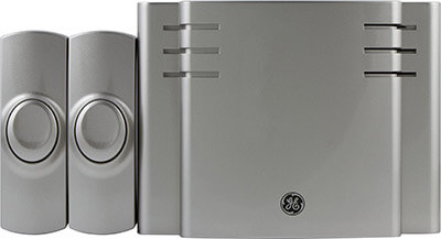 GE Wireless Door Chime Battery-Operated, 2 Push buttons