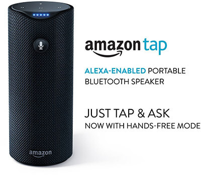 Amazon Tap Portable Bluetooth Speaker, Alexa-Enabled