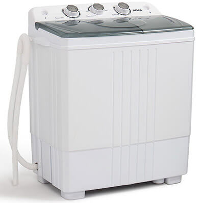 Della Compact Portable Washing Machine 11lbs Capacity with Spin Dryer