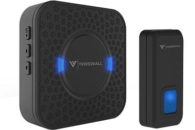 Tenswall Waterproof Wireless Doorbell Kit, 1000 ft Range