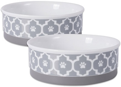 Bone Dry Non-Skid Ceramic Pet Bowl