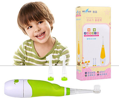 Ckeyin Baby Electric Toothbrush, 3 Replicable Heads