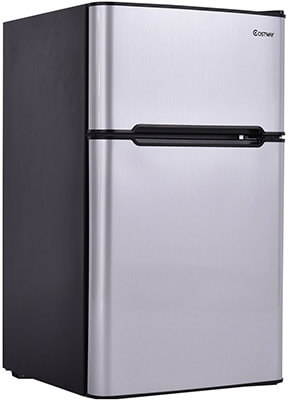 Costway 3.2 cu ft. 2-Door Compact Refrigerator