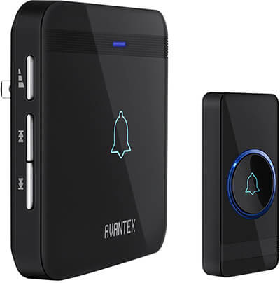 AVANTEK Wireless Doorbell,5 Volumes, 52 melodies