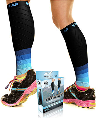 Physix Gear Sports Unisex Calf Compression Sleeves