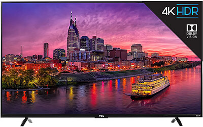 TCL 55P607 4K Ultra HD Roku Smart LED TV, 55-Inch