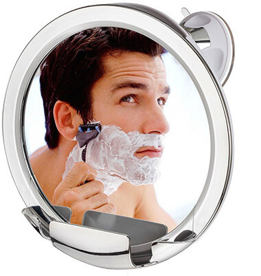 Cheftick Fog free Shower Mirror, with Built-in Razor Holder