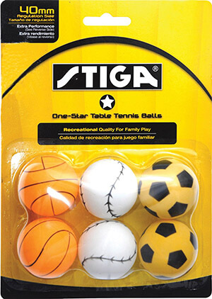 STIGA Sports Table Tennis Balls, 1-Star Rated