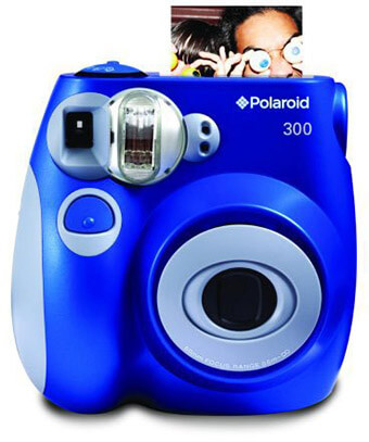Polaroid PIC-300 Instant Film Camera - Blue