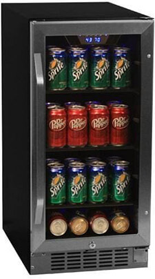 EdgeStar CBR901SG 15 Inch wide Beverage Cooler, 80 Cans