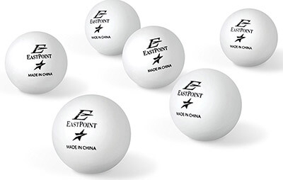 EastPoint Sports40mm Table Tennis Balls, 1-Star
