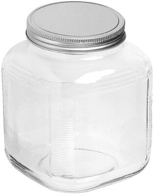 Anchor Hocking 1 - Gallon Cracker Jar with Brushed Aluminum Lid