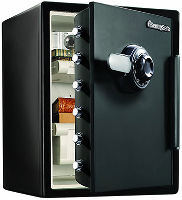 SentrySafe SFW205CWB Fire/Water Safe, XX L Combination Safe