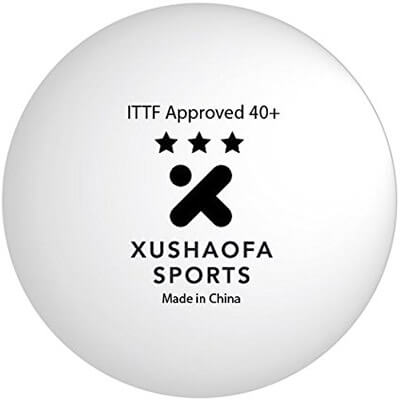Xushaofa Sports 3 Star 40+ Seamless Poly Table Tennis Balls