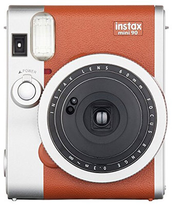 Fujifilm Instax Mini 90 Instant Film Camera -Brown