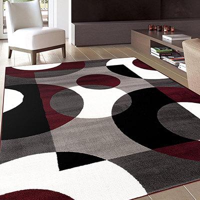 Rugshop Modern Circles Floor Rug