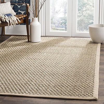 Safavieh Basket Weave Natural Fiber Collection Square Area Rug