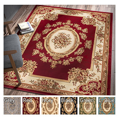 Well Woven Pastoral Medallion Living Room Rug