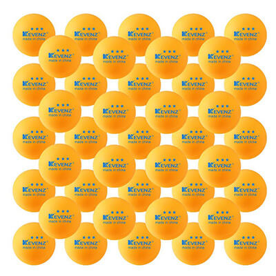 KEVENZ 40mm Table Tennis Balls, Training Ping Pong Balls, 50-Pack