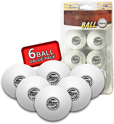 Sportly Table Tennis Ping Pong Balls, 3 Stars Rating