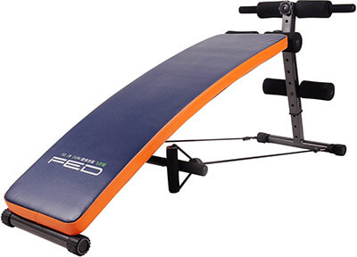 FEIERDUN Adjustable Workout Bench, Slant Crunch Board Abdominal Benches