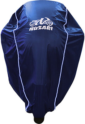 Nuzari Navy Medium-Sized Motorcycle Cover