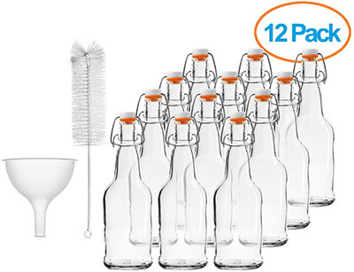 Chefs Star EASY CAP Beer Bottles with cleaning brush and Funnel