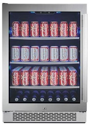 Avallon ABR241SGLH Built-In Beverage Cooler, 152 Can