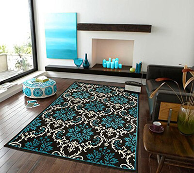 AS Quality Rugs Contemporary Blue Area Rugs