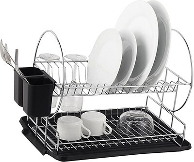 Neat-O Deluxe 2 Tier Chrome-plated Steel Dish Rack