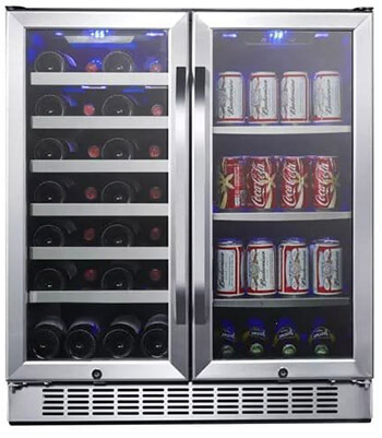 EdgeStar CWB2886FD French Doors Wine and Beverage Cooler