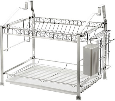 EYUEYA Home 2-Tier Dish Drying, Stainless steel