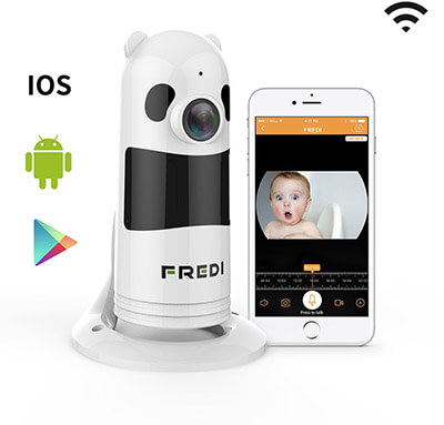 FREDI Baby Monitor Wireless WIFI IP Surveillance Camera 1080P HD