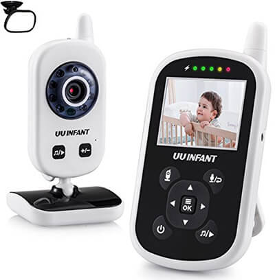UU Video Baby Monitor Infant Night Vision Camera Temperature Monitor with Alarm