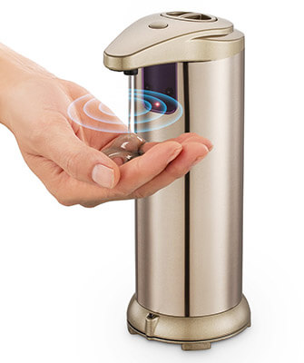 GynTi Touchless Stainless Steel Automatic Soap Dispenser