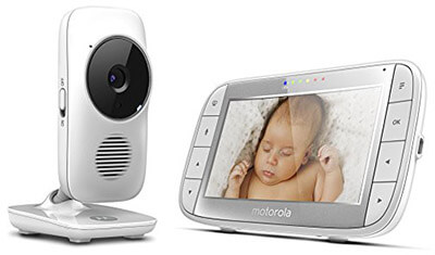 Motorola MBP48 5-Inch Screen Digital Video Audio Baby Monitor