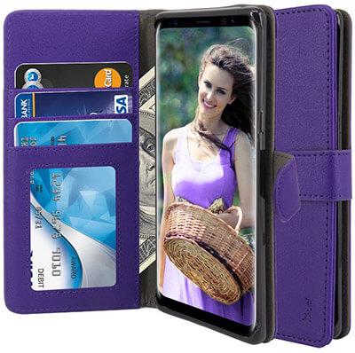 TAURI Galaxy Note 8 Case PU Leather Protective Wallet Case
