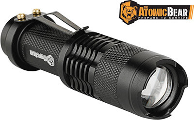 ATOMIC BEAR SWAT Tactical LED Flashlight, Water resistant