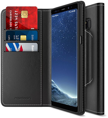 Maxboost Samsung Galaxy Note 8 Wallet Case Wallet Series Folio Style